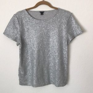 Ann Taylor Woman's Front  Sequin Blouse